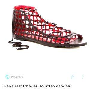 Charles Jourdan Baha Flat Gladiator Sandals